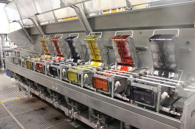 رنگرزی صنعتی توسط دستگاههای رنگرزی